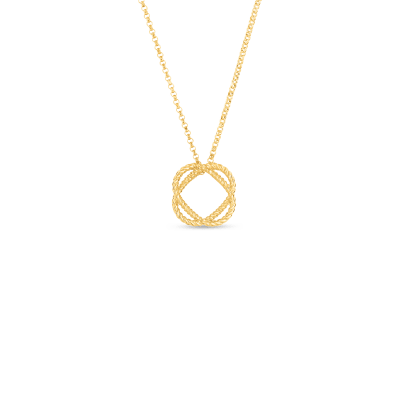 Roberto Coin Barocco 18K Yellow Gold Circle Pendant