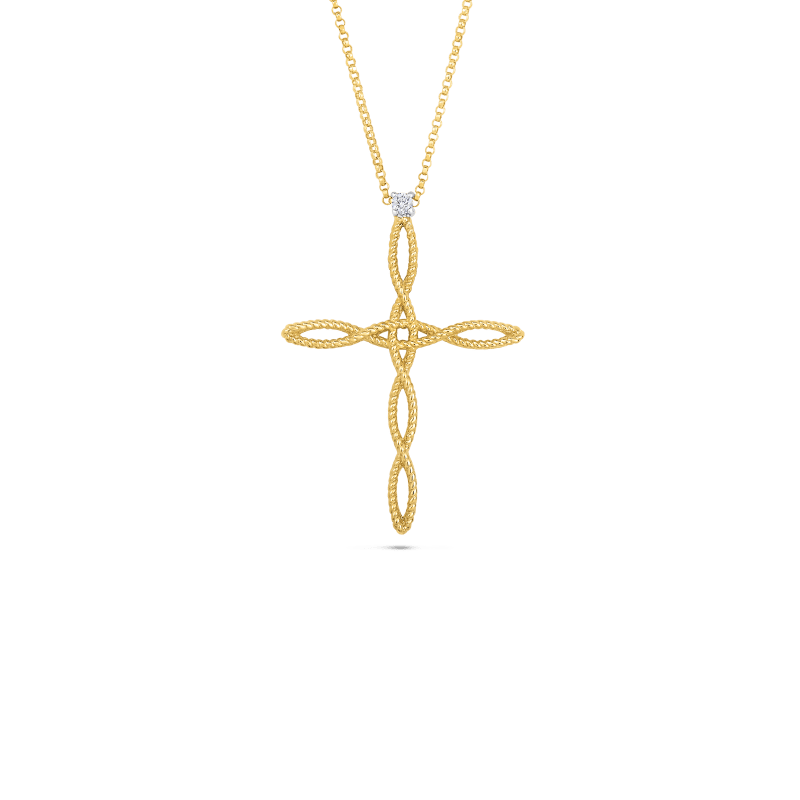 Roberto-Coin-Barocco-18K-Yellow-Gold-and-18K-White-Gold-Cross-Pendant-with-Diamonds-7771173AJCHX