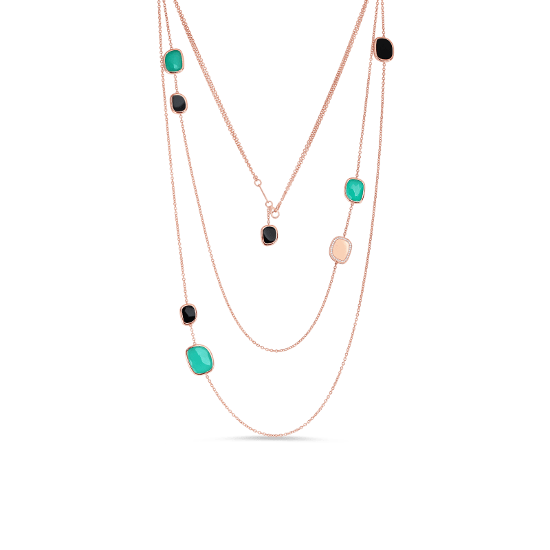 Roberto-Coin-Black-Jade-18K-Rose-Gold-Station-Necklace-with-Black-Jade-and-Agate-and-Diamonds-8881607AX32J copy