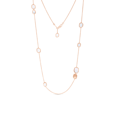 Station Necklace with Mother of Pearl