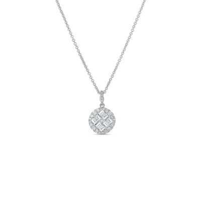 Roberto Coin Classic Diamond 18k White Gold Pendant With Diamonds