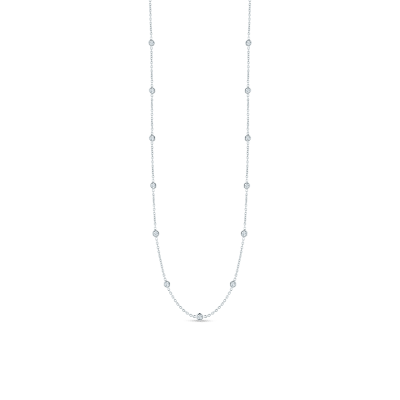 Necklace with 15 Diamond Stations