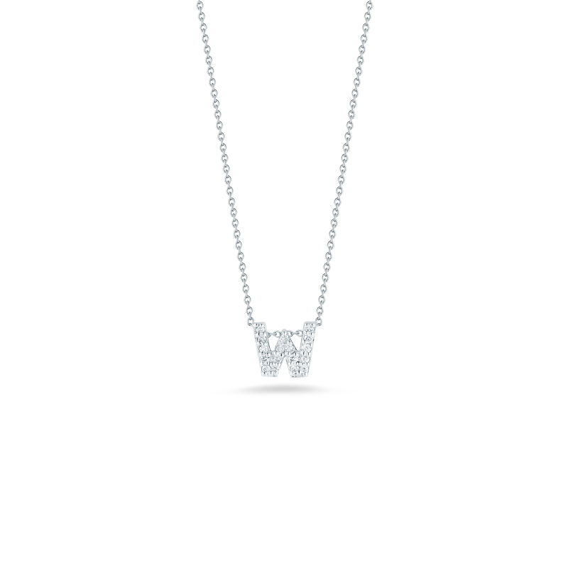 Roberto-Coin-Tiny-Treasures-18K-White-Gold-Love-Letter-W-Pendant-with-Diamonds-001634AWCHXW