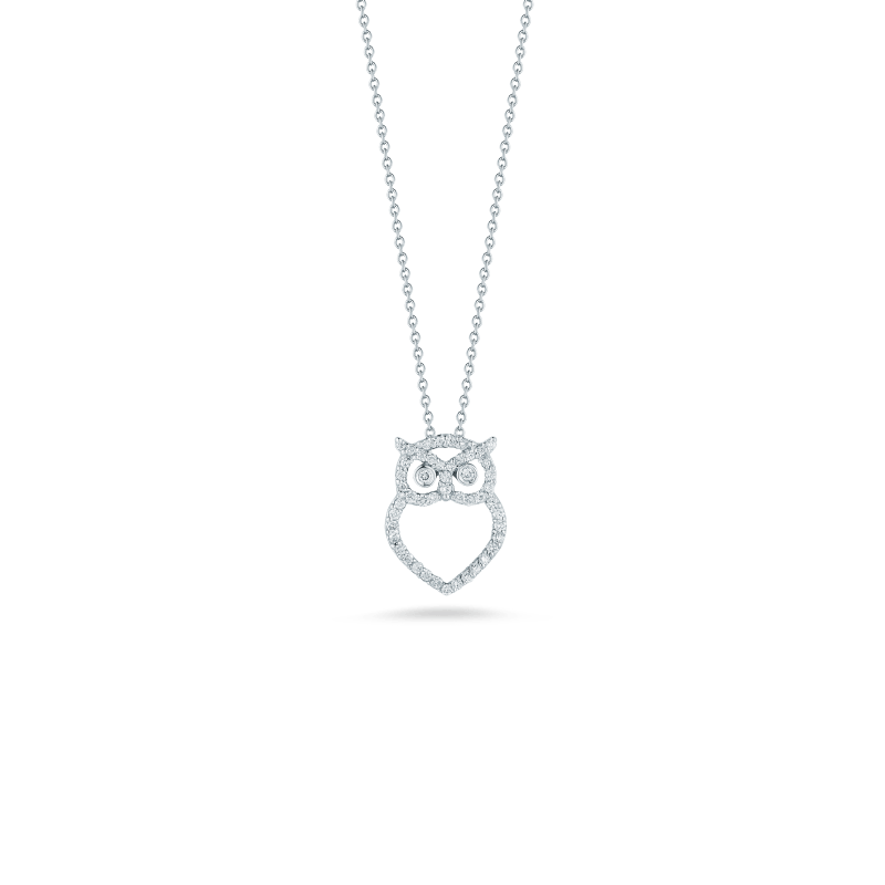Roberto-Coin-Tiny-Treasures-18K-White-Gold-Owl-Pendant-with-Diamonds-000904AWCHX0