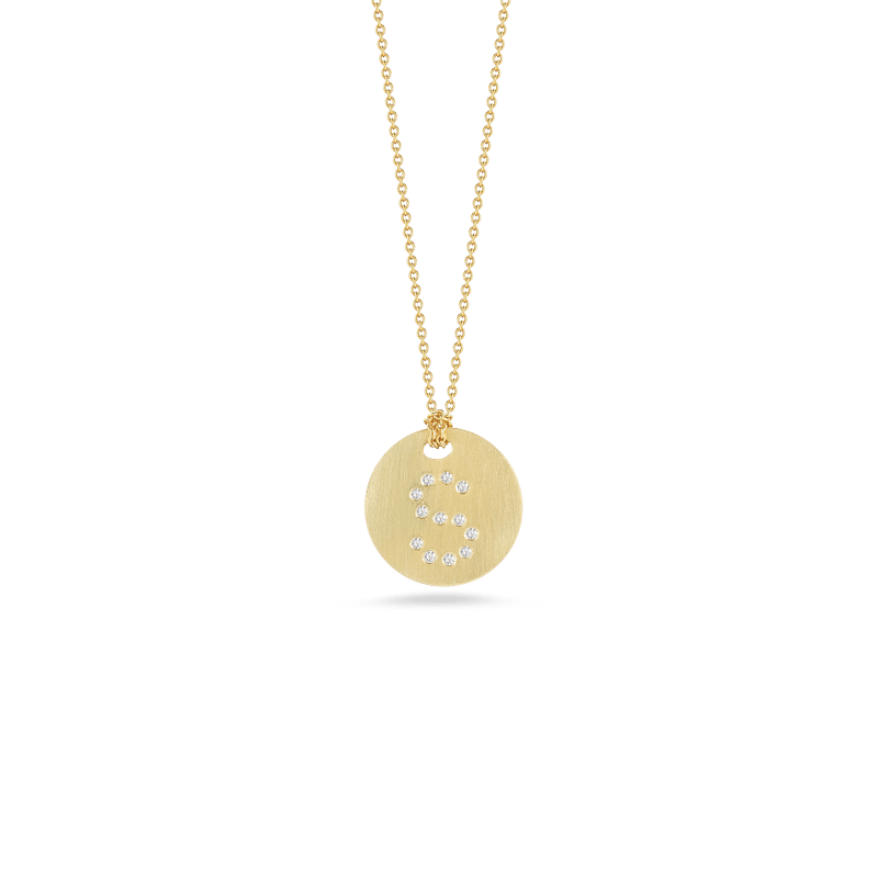 Roberto-Coin-Tiny-Treasures-18K-Yellow-Gold-Disc-Pendant-with-Diamond-Initial-S-000801AYCHXS