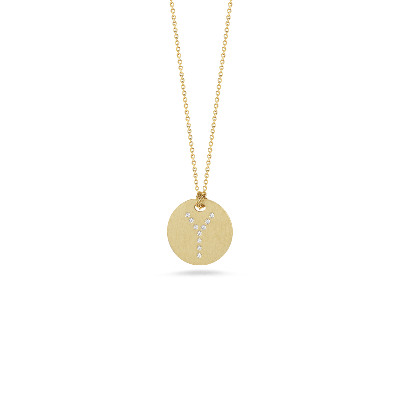 Roberto-Coin-Tiny-Treasures-18K-Yellow-Gold-Disc-Pendant-with-Diamond-Letter-Y-000801AYCHXY