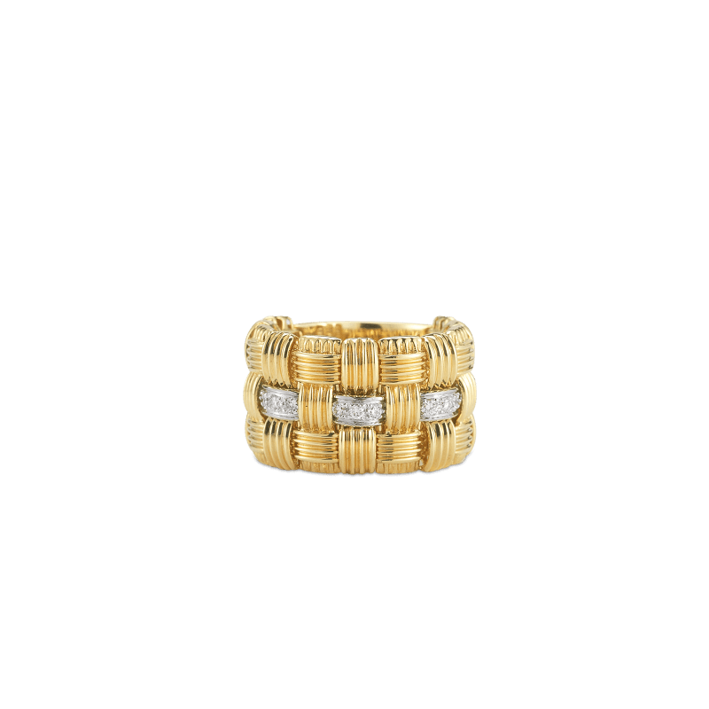 Roberto-Coin-Appassionata-18K-Yellow-Gold-and-18K-White-Gold-3-Row-Ring-with-Diamonds-639080AJLRD0