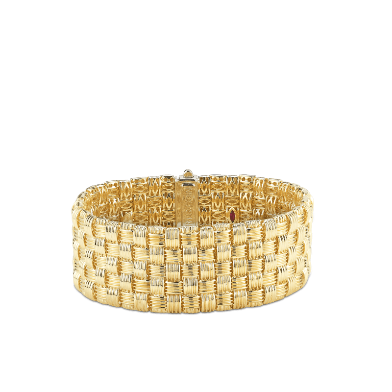 Roberto-Coin-Appassionata-18K-Yellow-Gold-and-18K-White-Gold-5-Row-Bracelet-with-Diamond-Clasp-639006AJLBD0
