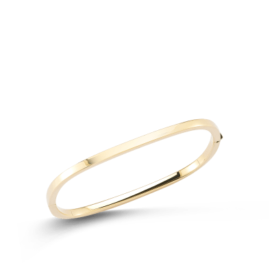 Square Bangle 18K Yellow Gold