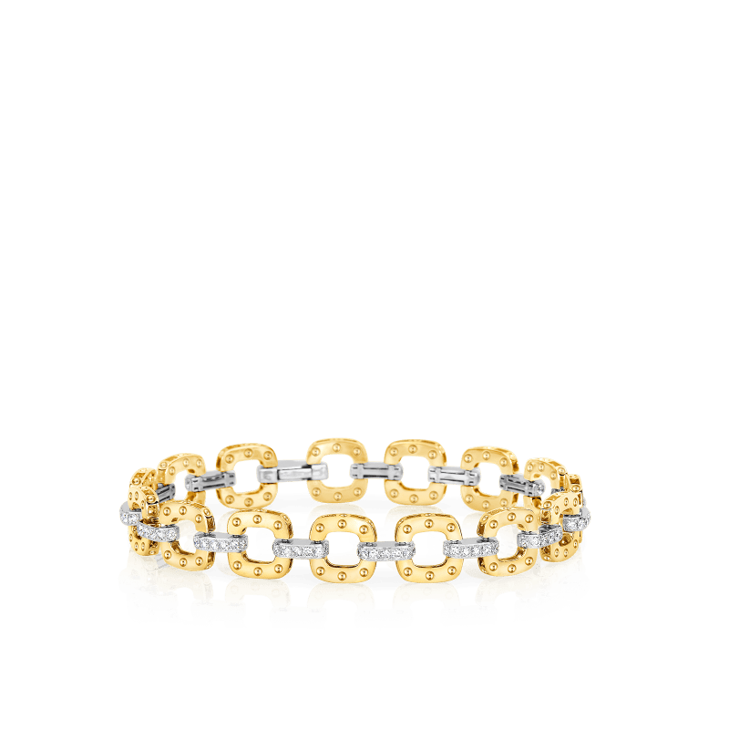Roberto-Coin-Pois-Moi-18K-Yellow-Gold-and-18K-White-Gold-Petite-Link-Bracelet-with-Diamonds-777976AJLBX0