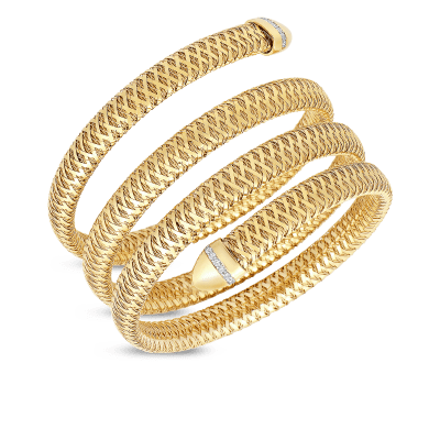 Flexible Bangle With Mother Of Pearl
