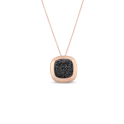 Large Pendant with Black Diamonds