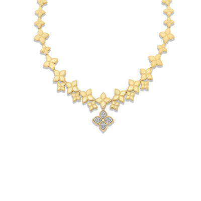Diamond Link Collar with Drop