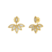 Diamond Stud Earrings with Fan Jacket | Roberto Coin