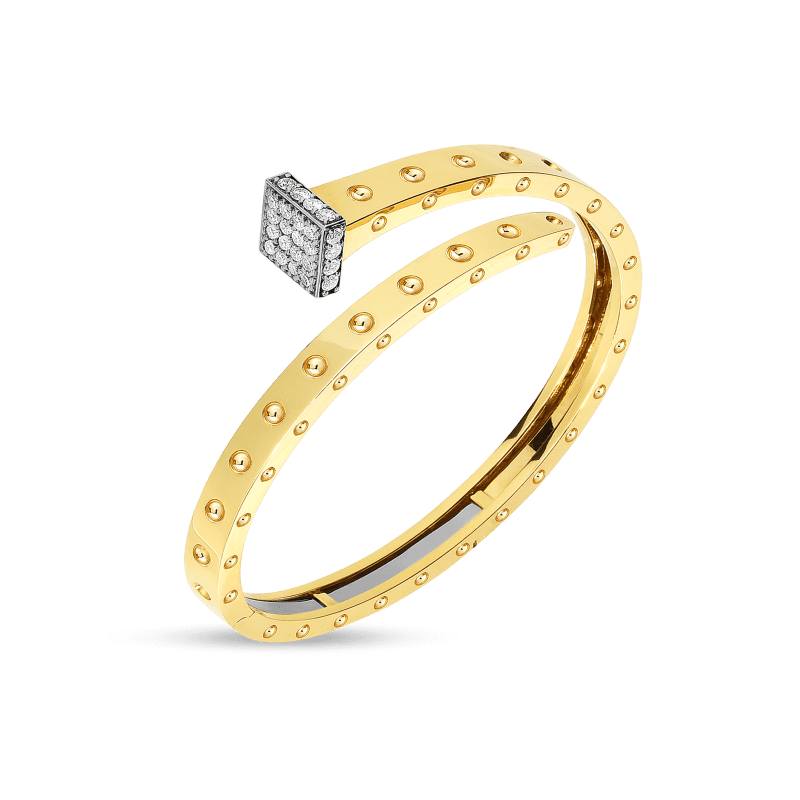 Roberto-Coin-18k-yellow-gold-18k-white-gold-Wide-Chiodo-Bangle-with-Diamonds-8882066AJBAX