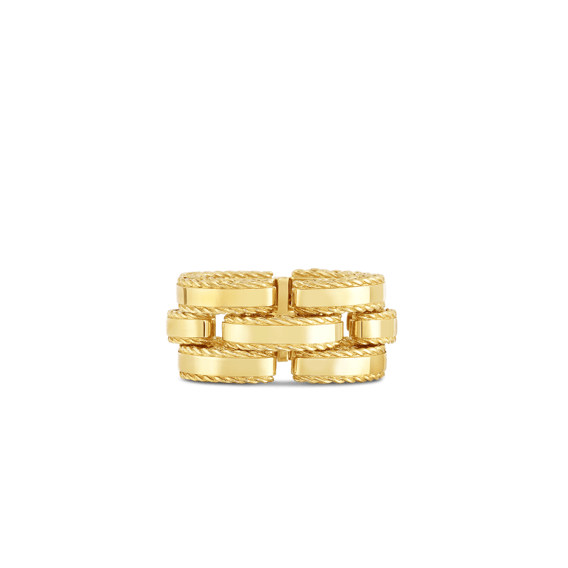 Roberto-Coin-18k-yellow-gold-Retro Link Ring-7771394AY650