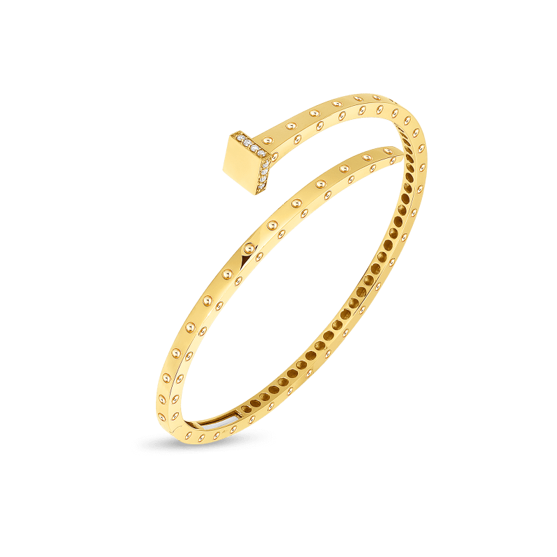 Roberto-Coin-18k-yellow-gold-Slim-Chiodo-Bangle-with-Diamonds-8882182AYBAX