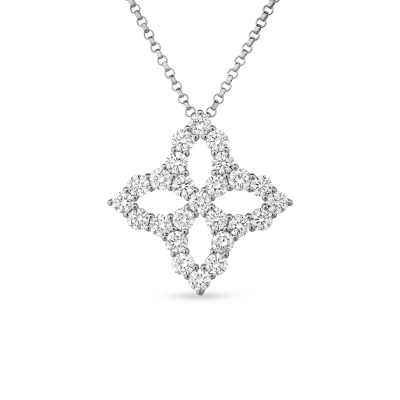 NECKLACE WITH LARGE DIAMOND PENDANT