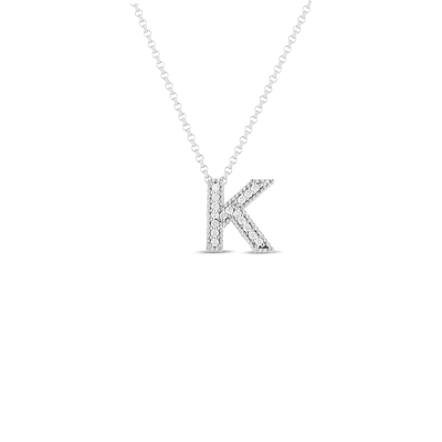 Product 18k Gold & Diamond Princess Initial 'K' Pendant On Chain
