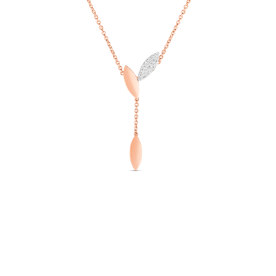 Product 18kt Gold Petal Pendant With Diamonds