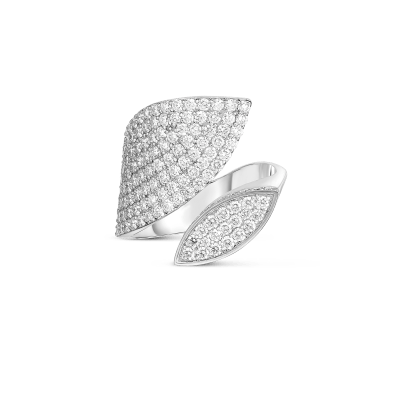Product 18k Gold & Diamond Petals Wrap Ring