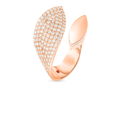 Product 18k Gold & Diamond Petals Wide Wrap Ring