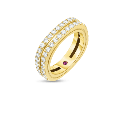 Product 18kt 2 Row Diamond Portofino Band