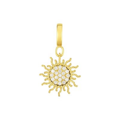 Product 18k Gold & Diamond Princess Sun Charm