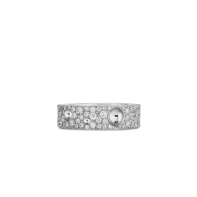 Product 18k Gold & Pave Dia Pois Moi Luna Ring