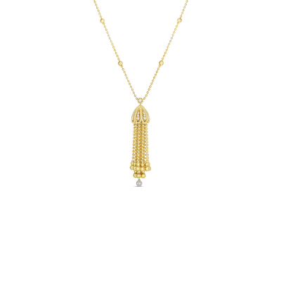 18K YW DIAMOND BAROCCO TASSEL NECKLACE/BRACELET