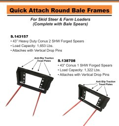 new implements quick attach round bale frames [ 2006 x 2596 Pixel ]