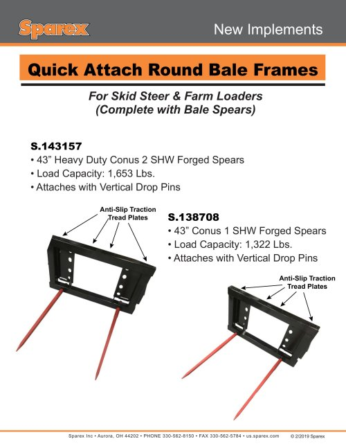 small resolution of new implements quick attach round bale frames