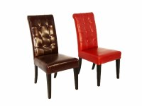 Tufted Leather Dining Chair