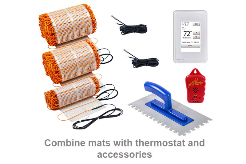 thermotile in floor heating mats