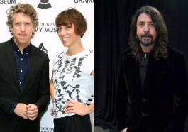 Dave Grohl joins The Bird And The Bee for a live cover of 'Little Drummer Boy'