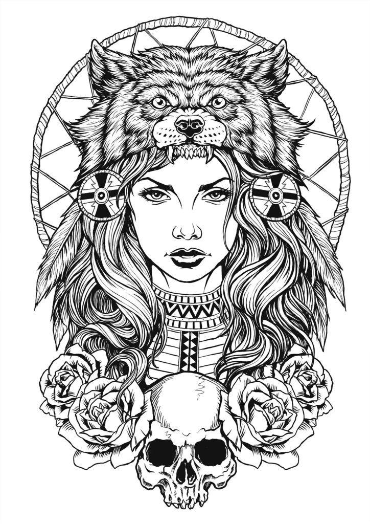 Wolf With Headdress : headdress, Looking, Indian-wolf, Headdress, Something, Forum