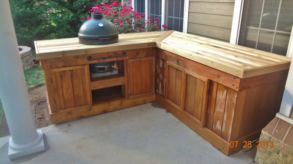 MY NEW EGG TABLE !!! --- 2ND time around — Big Green Egg - EGGhead Forum - The Ultimate Cooking ...