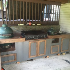 Outdoor Kitchen Griddle Omega Cabinets People With Kitchens  Big Green Egg Egghead