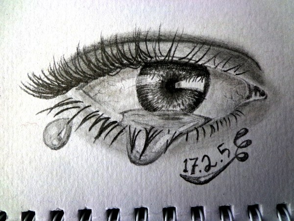 Eye With Tear Draw Mix Paint Forum Imgurl