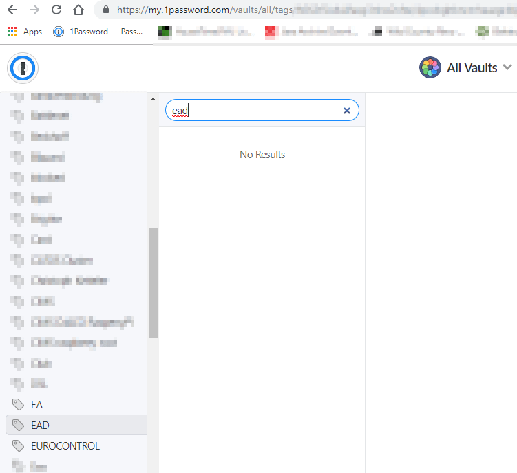 TAG's are not working correctly when searching in