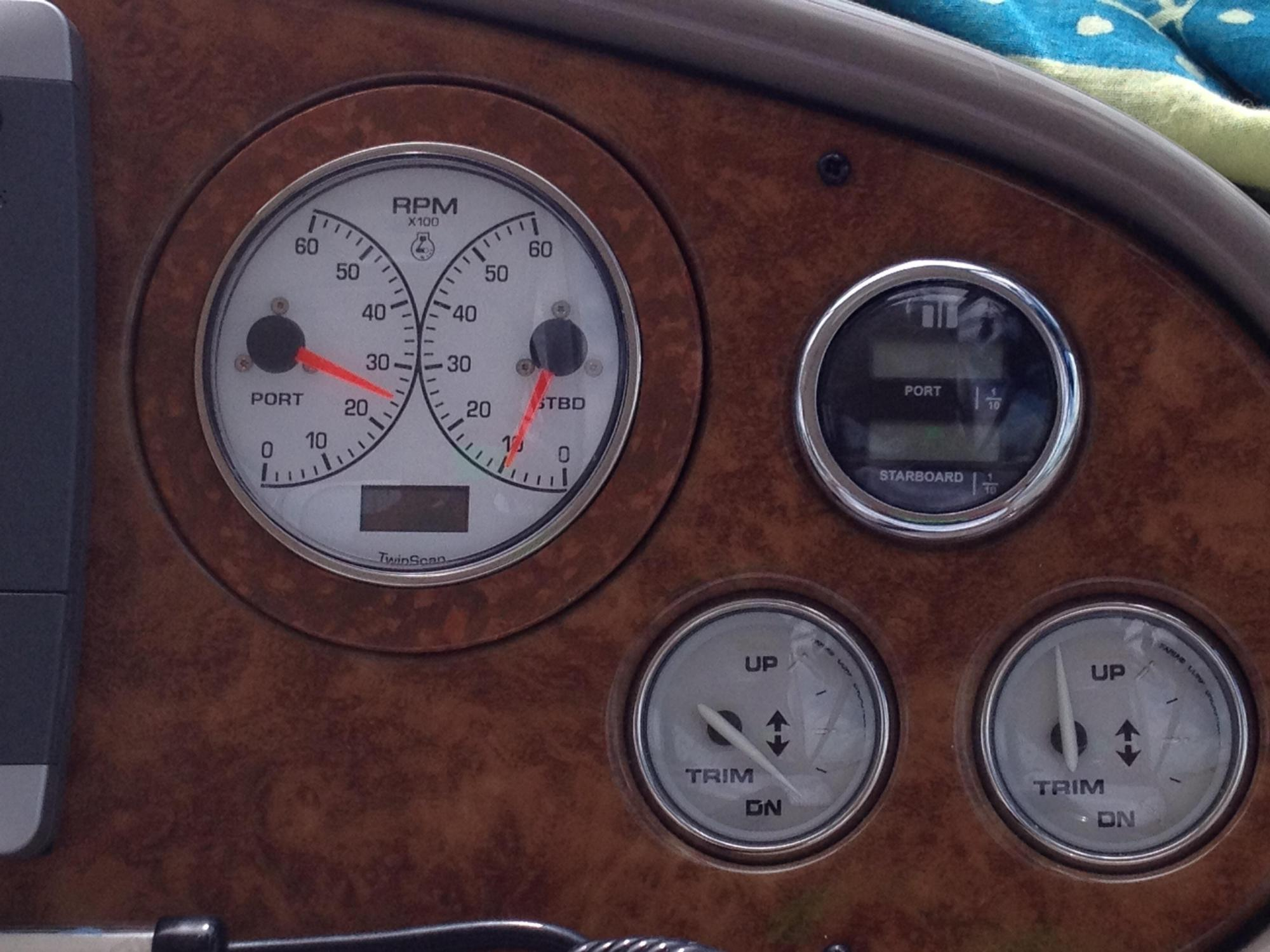 hight resolution of faria tachometer hourmeter gauge replacement rinker boats image jpg 1 3m