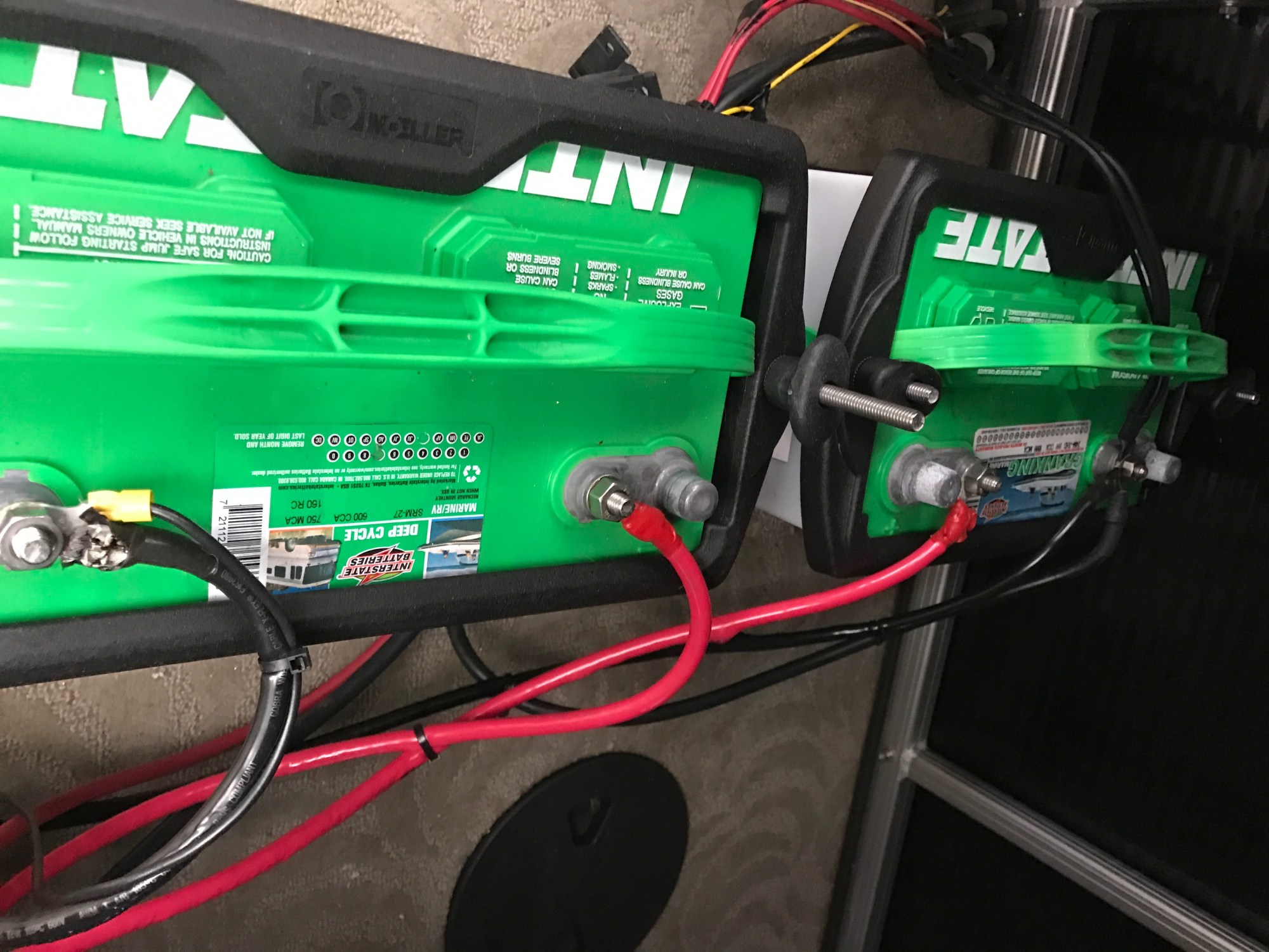 hight resolution of we had a customer hook up his own batteries the group 27 is wired backwards when the customer switched to both a dead short developed