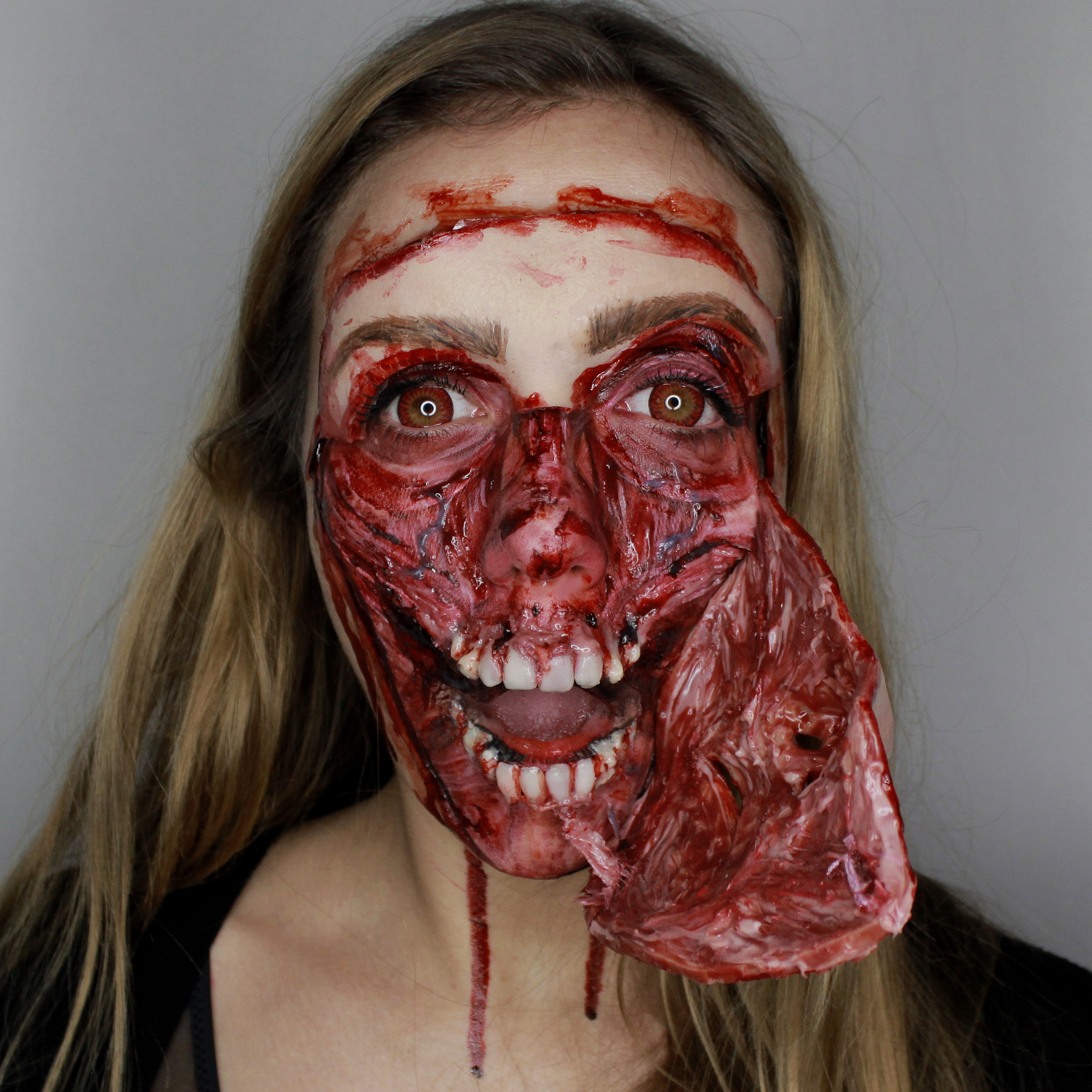 3rd entry character makeup contest skinned horror face  Stan Winston School of Character