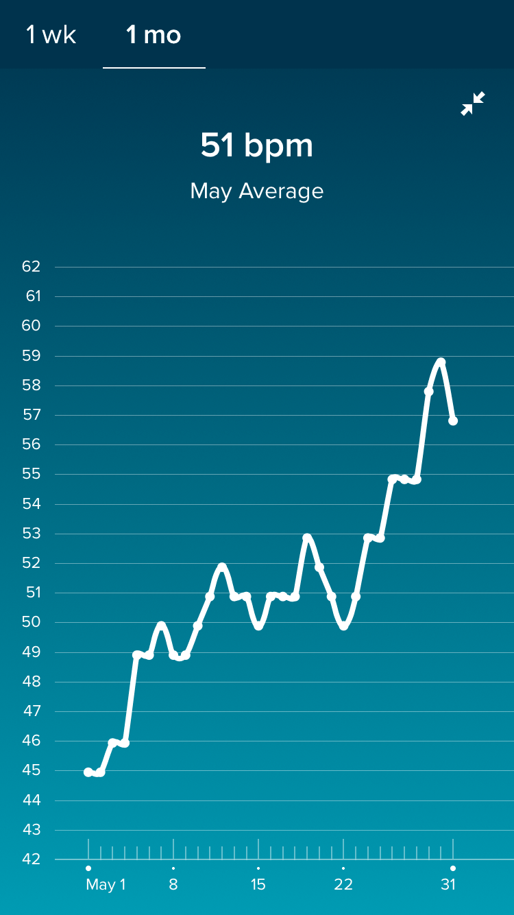 Fitbit Resting Heartrate — The Bump