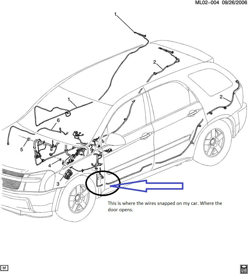 Pontiac Torrent door wiring harness problem — Car Forums