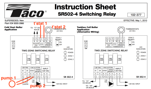 small resolution of taco relay wiring wiring diagram img taco relay sr 404 wiring diagrams