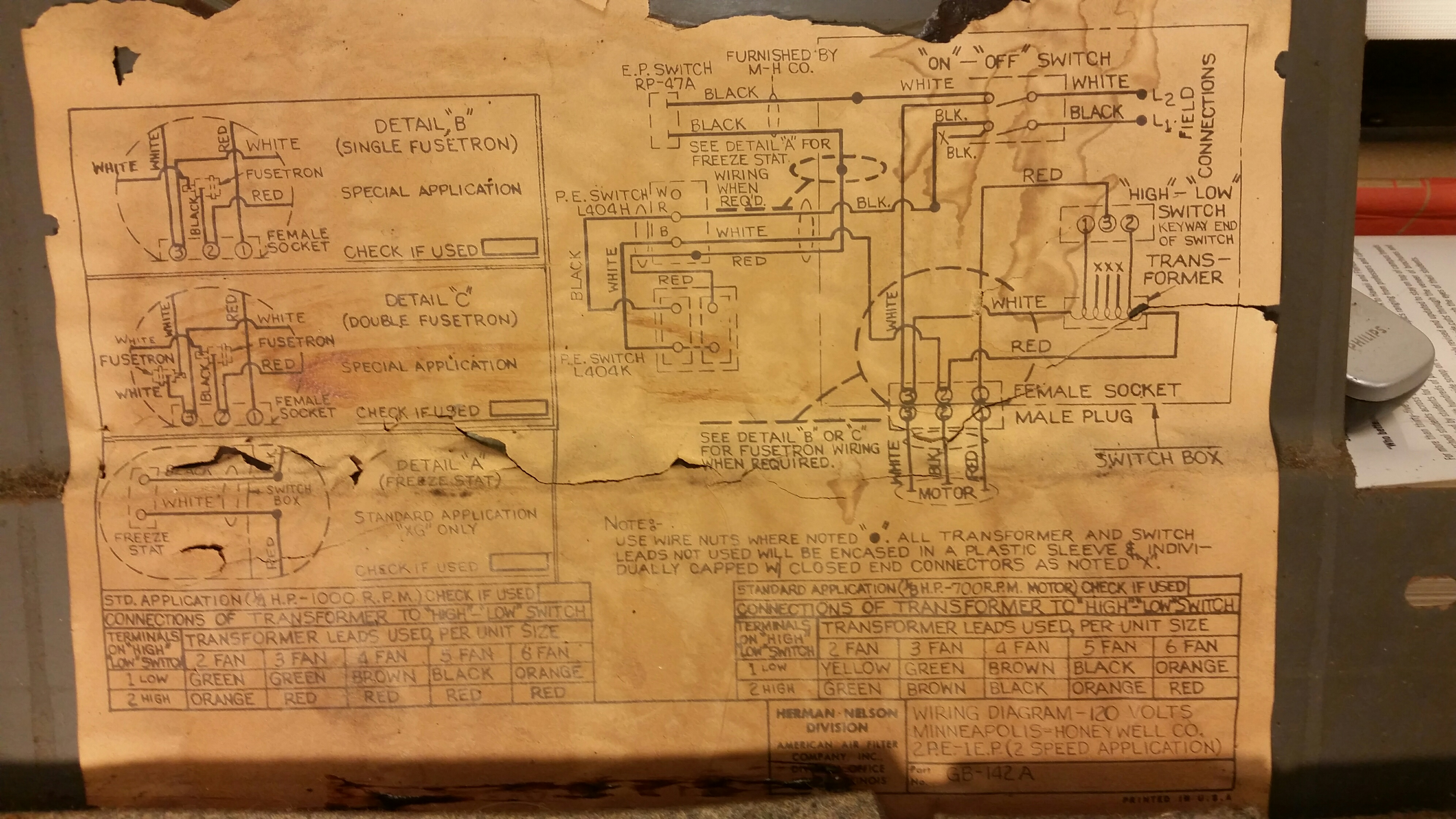 domestic wiring diagram photoelectric sensor herman nelson steam fan coil honeywell controls ...