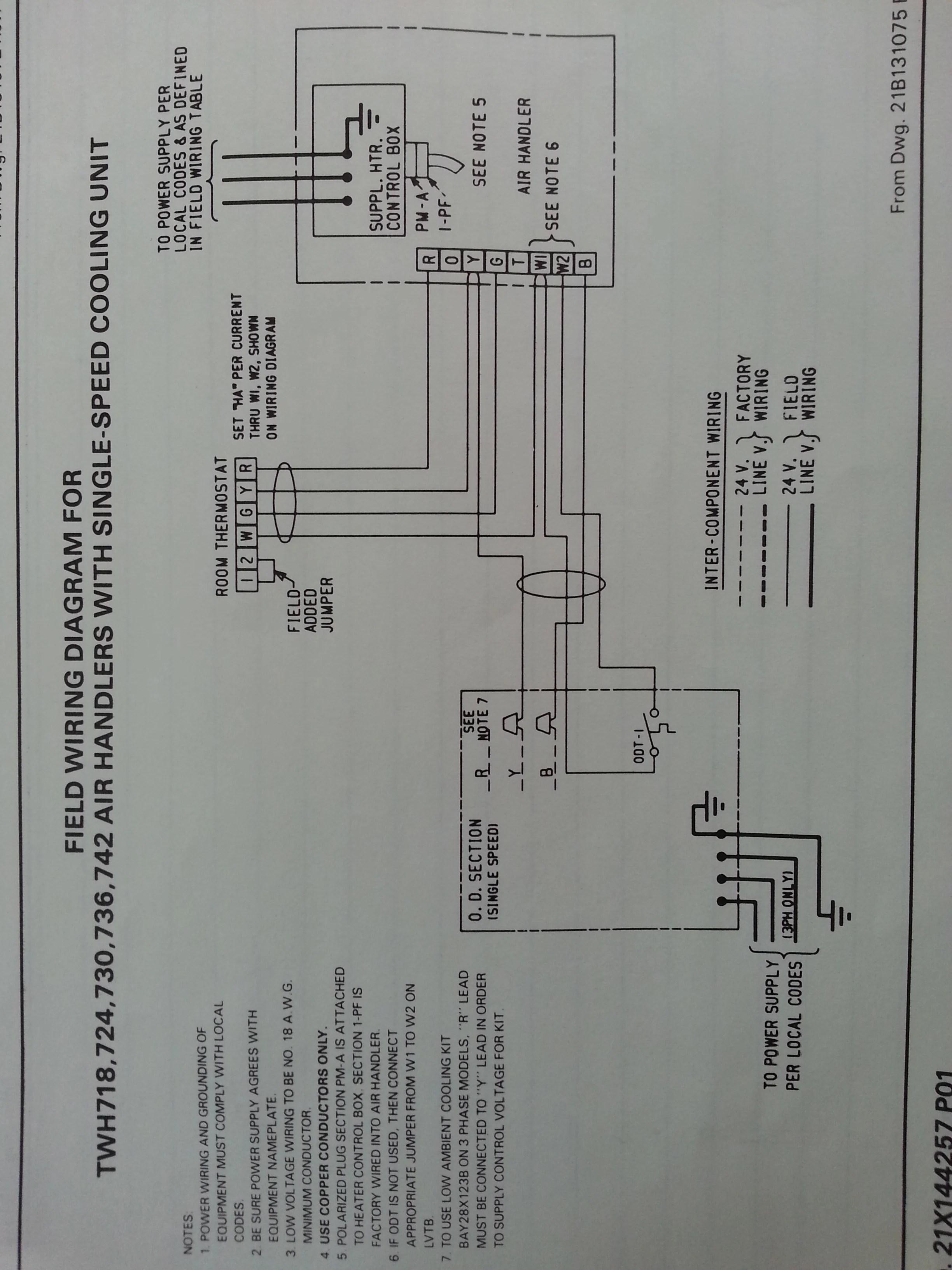Trane Heat Pump Wiring Diagram : trane, wiring, diagram, Trane, XL1200, Repair, Heating, Help: