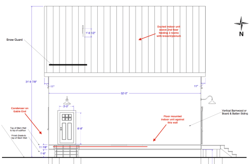 small resolution of ductless mini split lineset location question exterior or interior