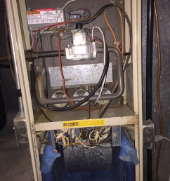 there is zero activity at the furnace no clicking igniter gas sounds etc i checked and re seated wiring connectors inside the unit with no change  [ 1224 x 1632 Pixel ]